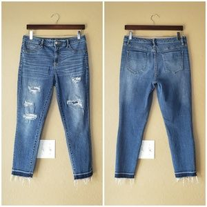 Mossimo High Rise Released Hem Distressed Jegging